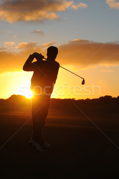 Matin golf Homme golfeur très tôt paysage Photo stock © Sportlibrary