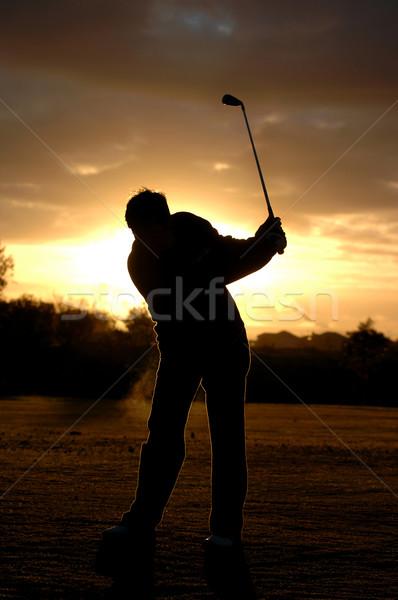 Golfista bella sunrise Foto d'archivio © Sportlibrary