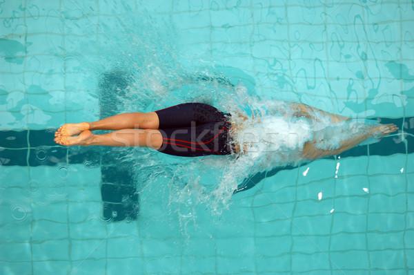 ダイビング 女性 スイマー オフ 水 ストックフォト © Sportlibrary