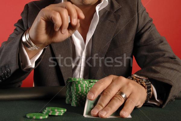 Poker giocatore chip carte Foto d'archivio © Sportlibrary