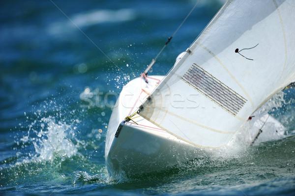 Vela vela blu Ocean acqua cielo Foto d'archivio © Sportlibrary