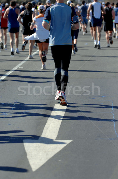 Marathon groupes coureur action route fitness Photo stock © Sportlibrary