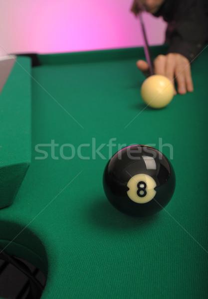 Piscina palla lato tasca tavola verde Foto d'archivio © Sportlibrary