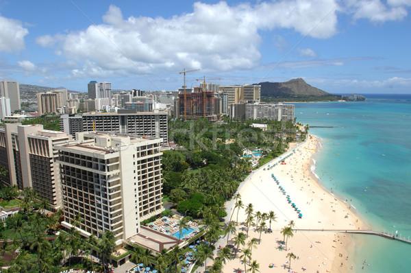 Honolulu mirando fuera waikiki playa diamantes Foto stock © Sportlibrary