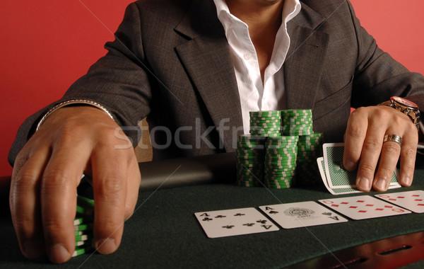 Giocare poker giocatore chip carte Foto d'archivio © Sportlibrary