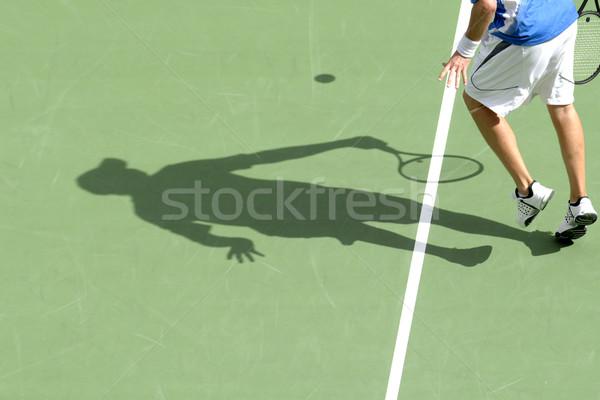 Ombra uomo giocare campo da tennis Foto d'archivio © Sportlibrary