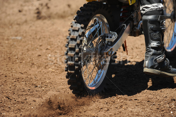 Motorbicikli autógumi felfelé por bicikli gép Stock fotó © Sportlibrary