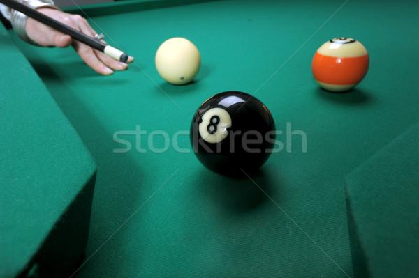 Donna piscina tavola giocare Foto d'archivio © Sportlibrary
