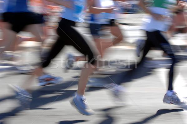 Maratona gruppi runner azione strada fitness Foto d'archivio © Sportlibrary
