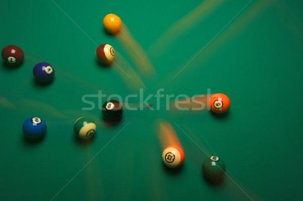 Break piscina tavola verde gioco Foto d'archivio © Sportlibrary