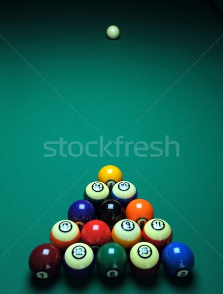 Piscina tavola giocare verde Foto d'archivio © Sportlibrary