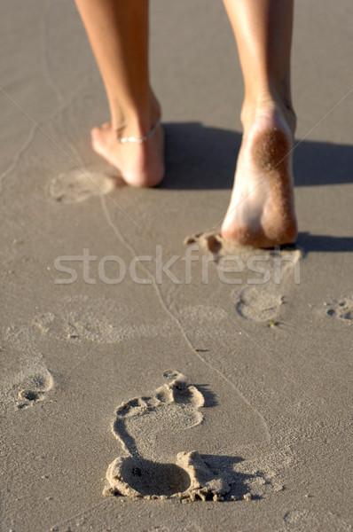 Piedi spiaggia piedi sabbia Foto d'archivio © Sportlibrary