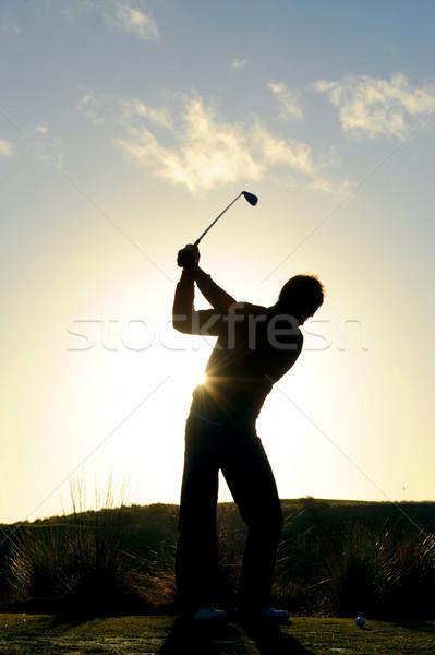 Mattina golf maschio golfista presto erba Foto d'archivio © Sportlibrary