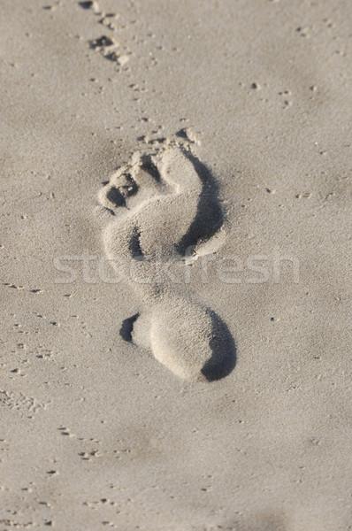 Spiaggia stampa piedi sabbia Foto d'archivio © Sportlibrary