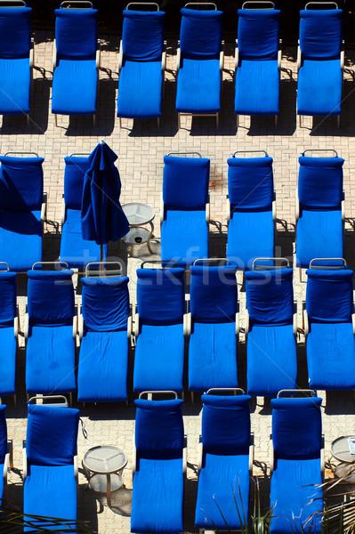 プール チェア 青 ビーチチェア 座る ストックフォト © Sportlibrary