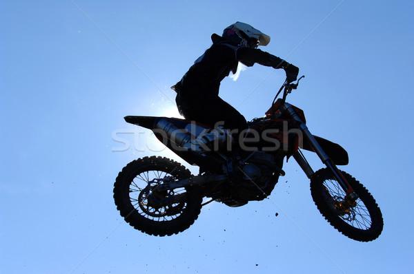 Мото воздуха небе Перейти мотоцикл грязи Сток-фото © Sportlibrary
