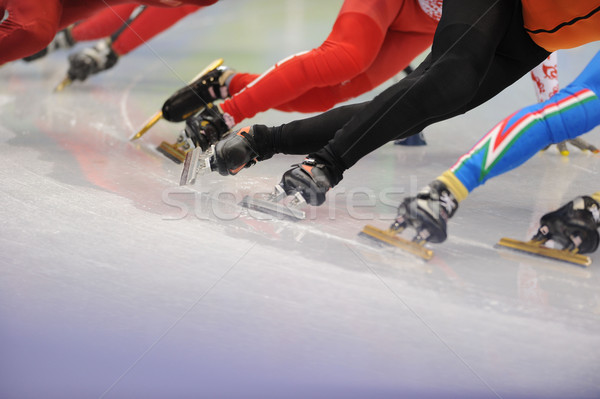 Ice-Skaters Legs Close Up Stock photo © Sportlibrary