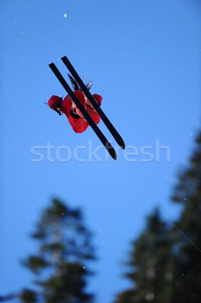 Sci Vai sciatore rosso suit aria Foto d'archivio © Sportlibrary