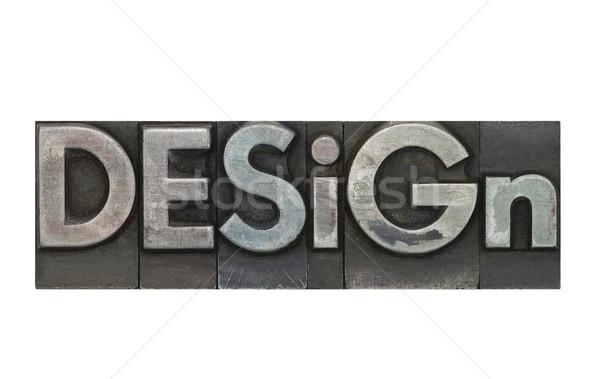 Letterpress Design Stock photo © sqback