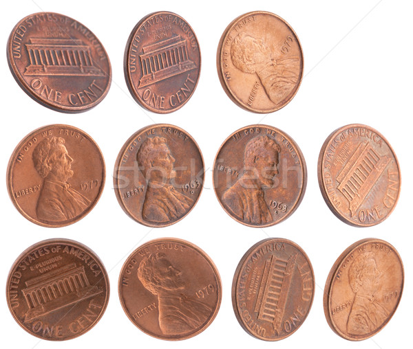American cents isolated on white Stock photo © sqback