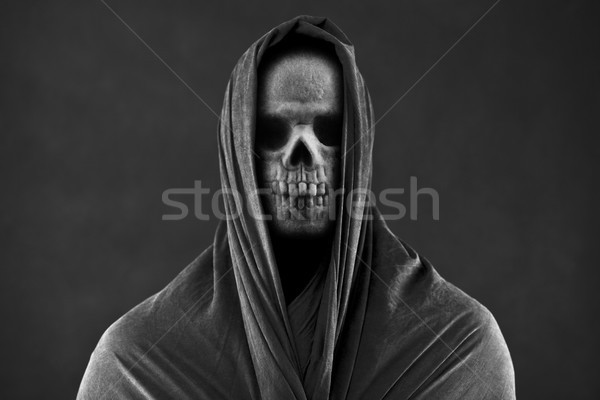 Buio cranio morti panno paura Foto d'archivio © sqback