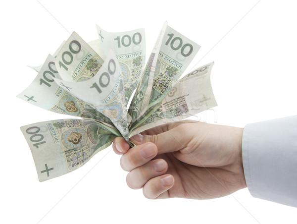 Dinero mano papel financiar banco Foto stock © sqback