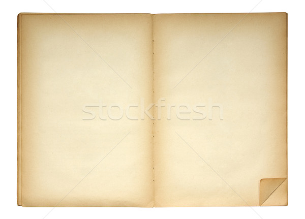 Open book with folded page corner as a bookmark Stock photo © sqback