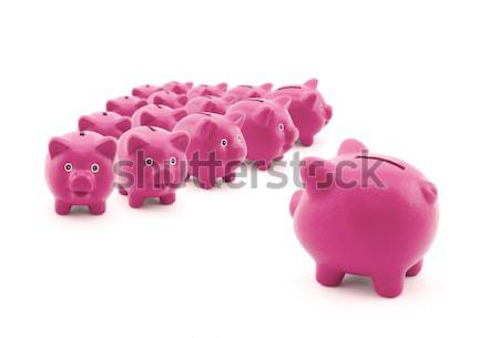 Large group of pink piggy banks Stock photo © sqback