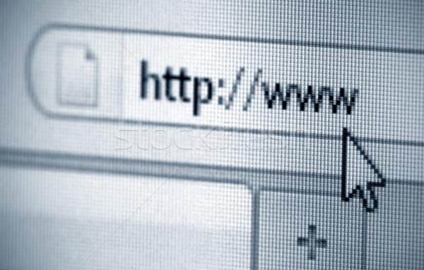 Internet Anschrift Bildschirm Laptop Zeichen Monitor Stock foto © sqback