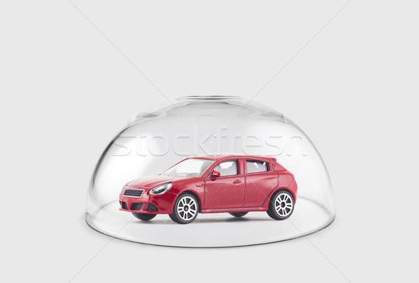 Vermelho carro protegido vidro cúpula brinquedo Foto stock © sqback