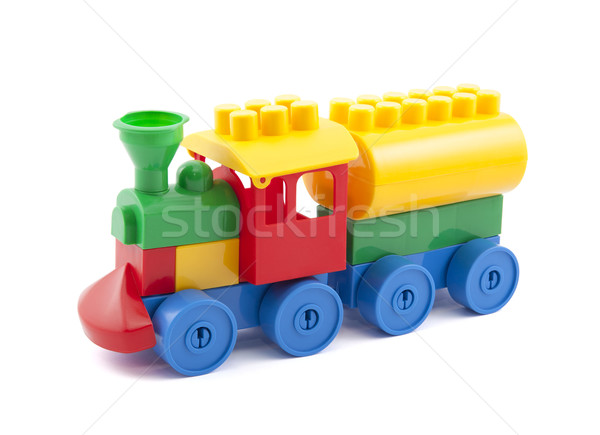 Renkli oyuncak tren yalıtılmış beyaz Stok fotoğraf © sqback