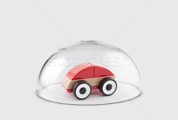 赤 おもちゃ 車 保護された ガラス ドーム ストックフォト © sqback