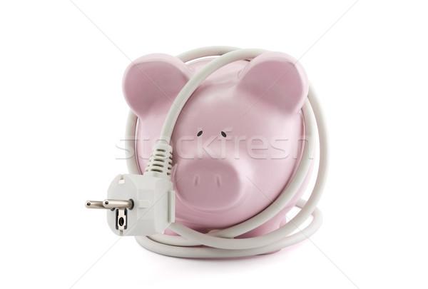 Energia poupança piggy bank luz Foto stock © sqback