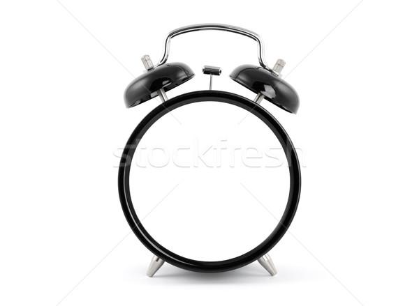 Alten Stil Wecker Uhr Metall Stock foto © sqback