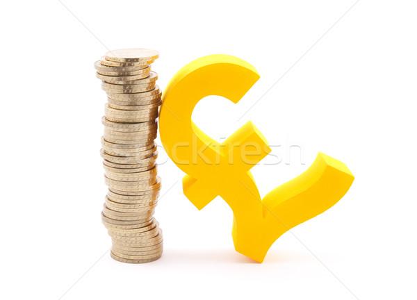 Stock fotó: Boglya · arany · érmék · font · szimbólum · üzlet · piac