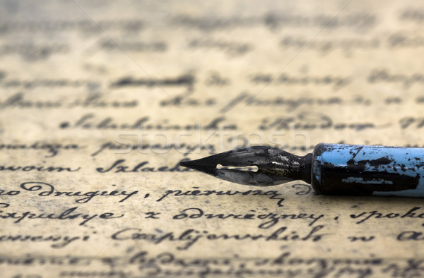 Ancient letter and pen Stock photo © sqback