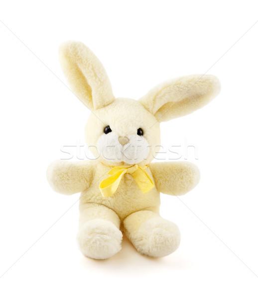 Tavşan oyuncak beyaz bebek sevmek çocuk Stok fotoğraf © sqback