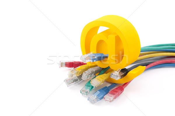 Ordenador red cables símbolo Foto stock © sqback