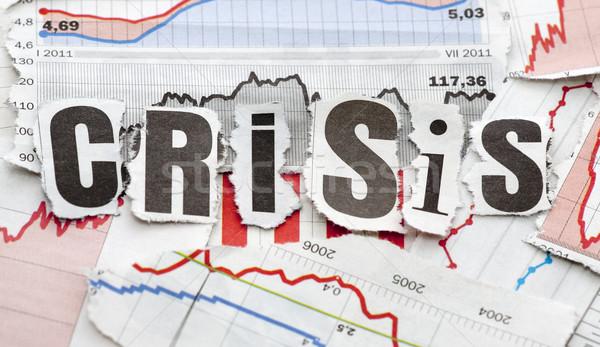 Crisi finanziaria business news lettera rosso finanziare Foto d'archivio © sqback