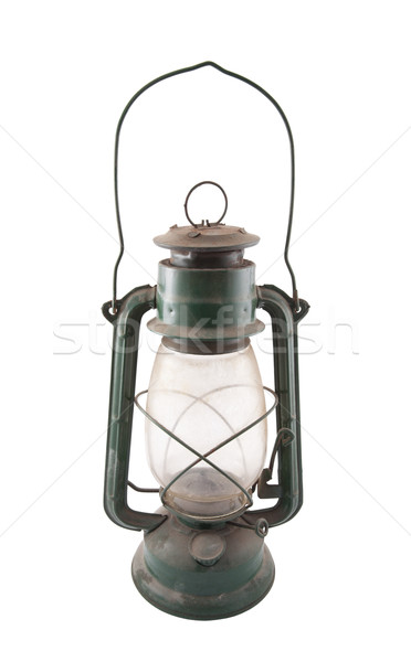 Old dirty oil lamp with clipping path Stock photo © sqback