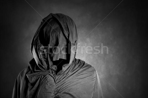 Figura buio uomo panno ombra diavolo Foto d'archivio © sqback