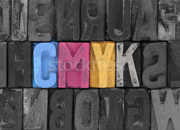 Cmyk made from old letterpress blocks Stock photo © sqback