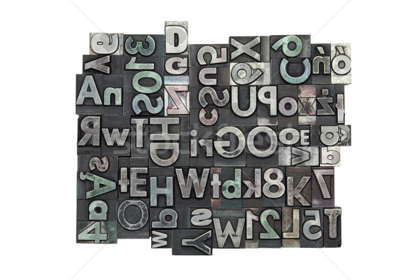 Random letterpress background with clipping path Stock photo © sqback