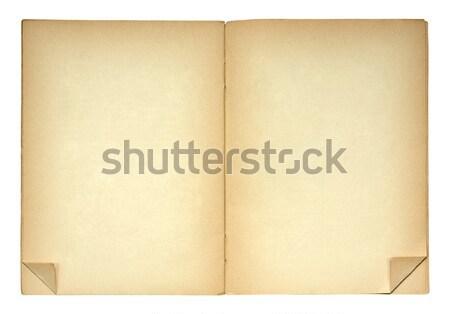 Açmak eski kitap yalıtılmış beyaz defter Stok fotoğraf © sqback