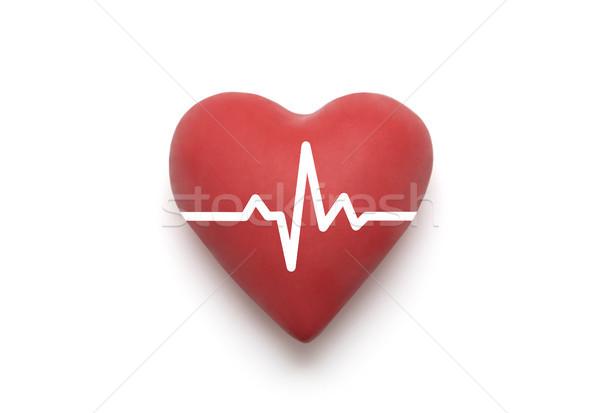 Szív pulzus vágási körvonal fehér orvosi egészség Stock fotó © sqback