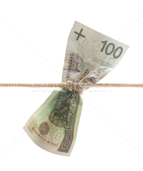 Polish money tied in twine with clipping path Stock photo © sqback