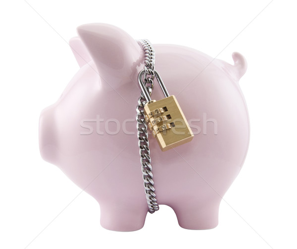Tirelire cadenas affaires métal Finance Photo stock © sqback