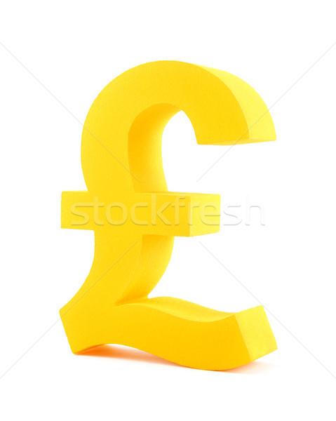 Arany font szimbólum izolált fehér üzlet Stock fotó © sqback