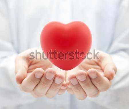 Seguro de saúde amor homem saúde medicina ajudar Foto stock © sqback