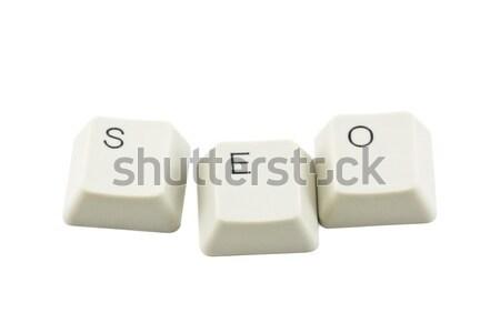 Seo компьютер клавиатура веб письме Сток-фото © sqback